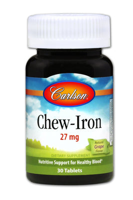 Chew-Iron 27 mg - 30 Tablets