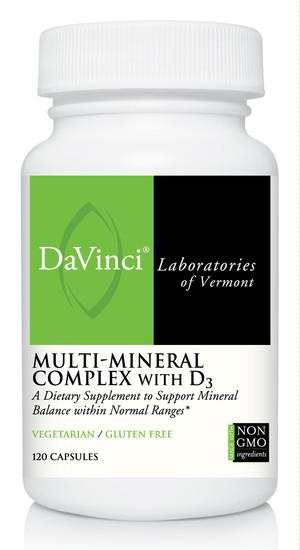 Multi-Mineral Complex with D3 - 120 Capsules