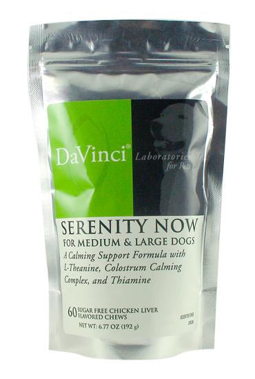 Serenity Now Medium/ Large Dogs - 60 Chewable Tablets