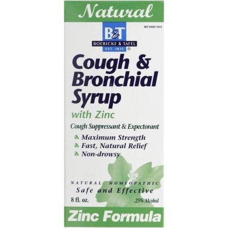 Cough & Bronchial Syrup with Zinc - 8 oz