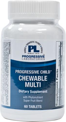 Progressive Child Chewable Tablets Multi - 60 Tablets