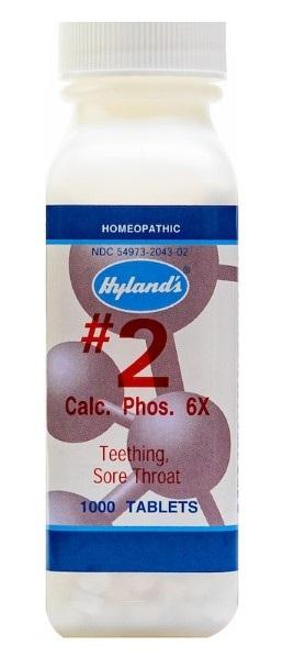 Hyland's #2 Calc. Phos. 6X - 1000 Tablets