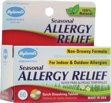 Hyland's Seasonal Allergy Relief - 60 Tablets