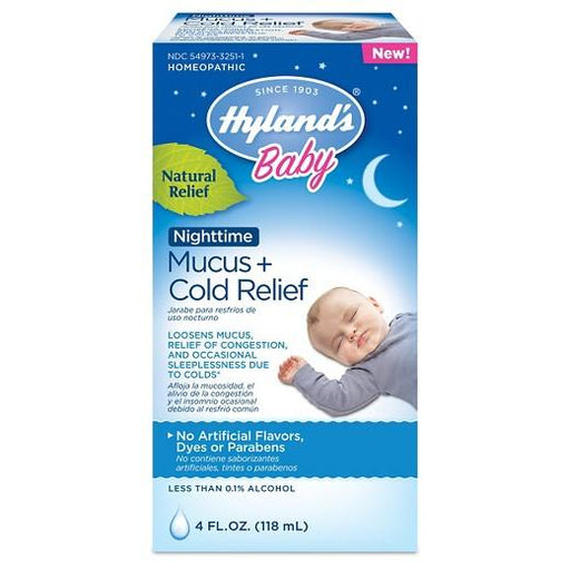 Hyland's Baby Nighttime Mucus & Cold Relief - 4 fl