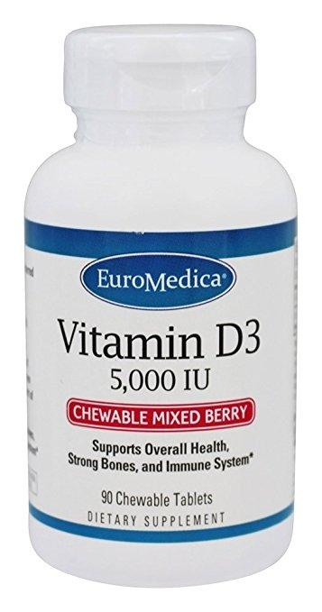 Vitamin D3 5,000IU Mixed Berry - 90 Chewable Tablets