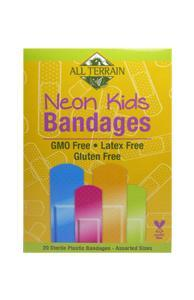Kids Neon Bandages - 20 Pieces