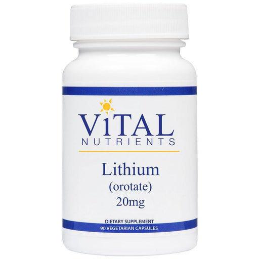 Lithium (orotate) 20 mg - 90 Vegetarian Capsules