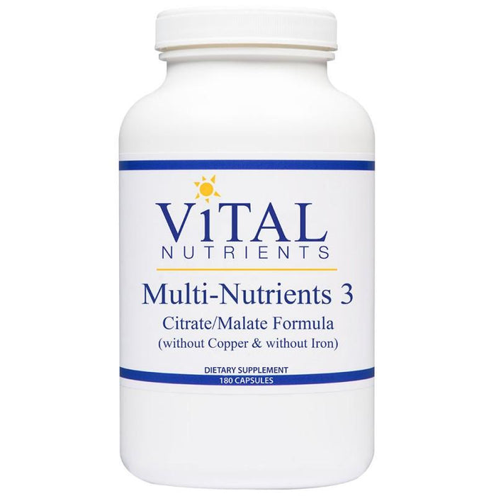 Multi-Nutrients 3 Citrate/Malate - 180 Capsules