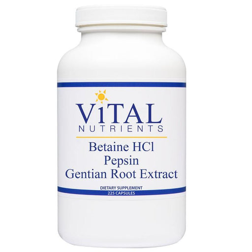 Betaine HCL w/ Pepsin & Gentian - 225 Capsules