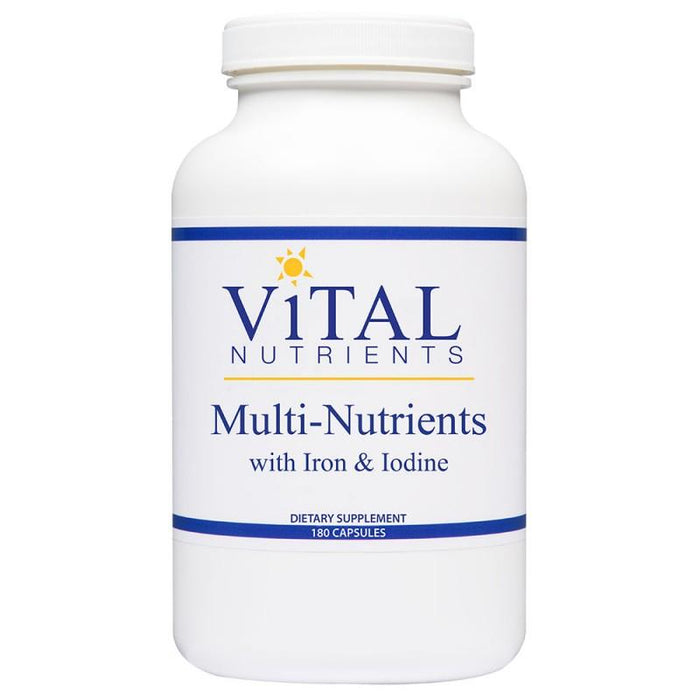 Multi-Nutrients w/ Iron & Iodine - 180 Capsules