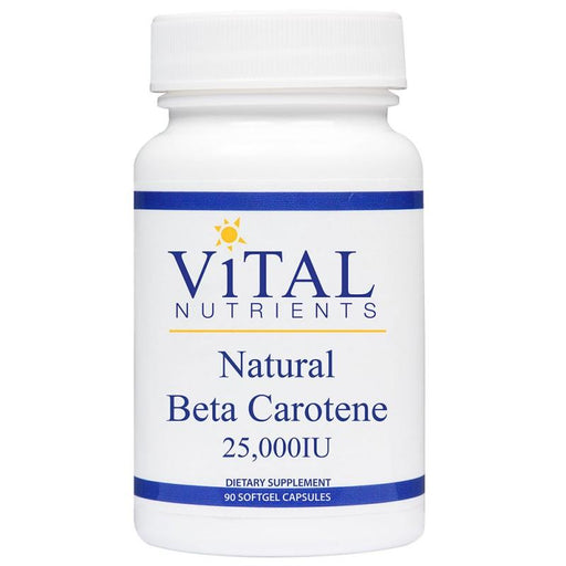 Natural Beta Carotene 25000 - 90 Softgels