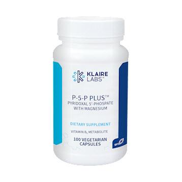 Klaire Labs P-5-P Plus with Magnesium - 100 Vegetarian Capsules