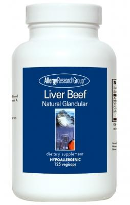 Liver Beef 1000 mg - 125 Vegetarian Capsules