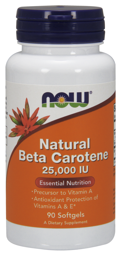 Natural Beta Carotene 25,000 IU - 90 Softgels