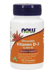 Vitamin D-3 5,000 IU - 120 Chewables