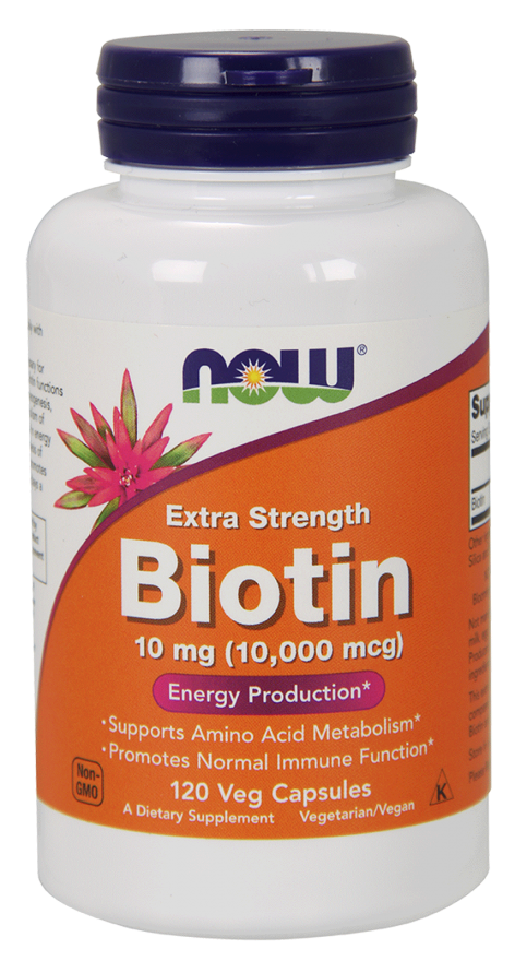 Biotin Extra Strength 10 mg - 120 Vegetarian Capsules