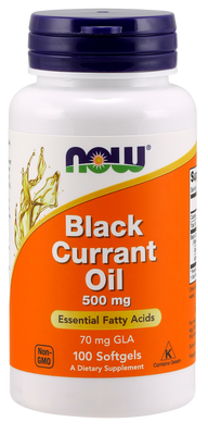 Black Currant Oil 500 mg - 100 Softgels