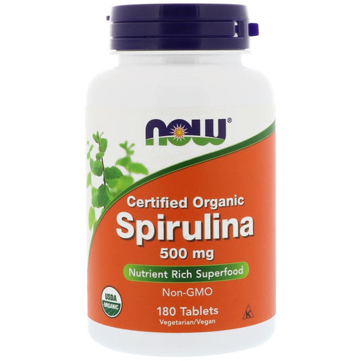 Organic Spirulina 500 mg - 180 Tablets