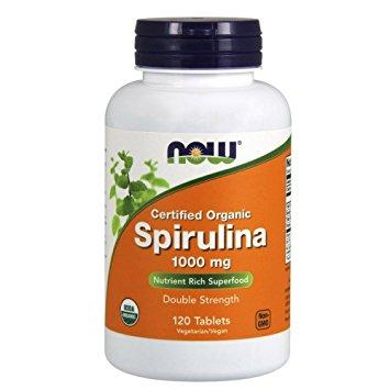 Organic Spirulina 1000 mg - 120 Tablets