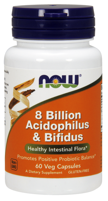 8 Billion Acidophilus & Bifidus - 60 Vegetarian Capsules