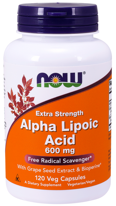 Alpha Lipoic Acid 600 mg - 120 Vegetarian Capsules