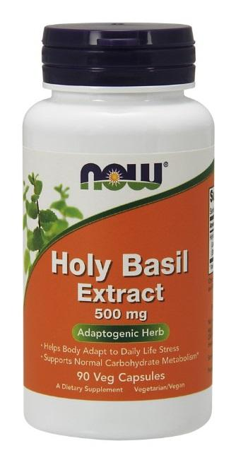 Holy Basil Extract 500 mg - 90 Vegetarian Capsules
