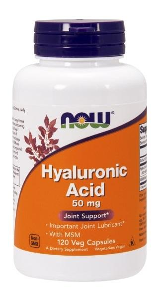 Hyaluronic Acid with MSM - 120 Vegetarian Capsules