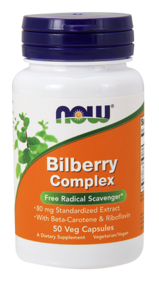 Bilberry Complex Plus 80 mg - 50 Capsules