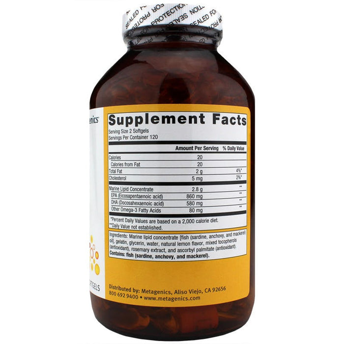 OmegaGenics EPA-DHA 720 Lemon - 240 Softgels