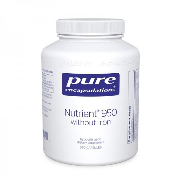 Nutrient 950 without Iron - 360 Vegetarian Capsules