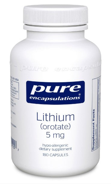 Lithium (orotate) 5 mg - 180 Vegetarian Capsules