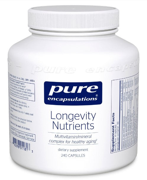 Longevity Nutrients - 240 Vegetarian Capsules