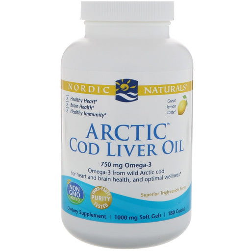 Arctic Cod Liver Oil Lemon - 180 Softgels