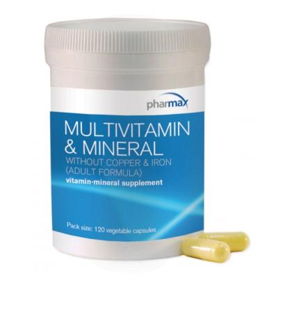 Multivitamin & Mineral Without Copper & Iron (Adult Formula) - 120 Vegetable Capsules