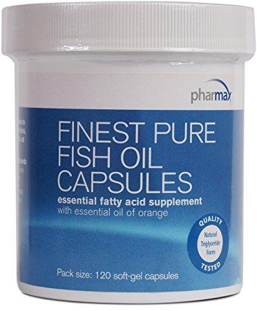 Finest Pure Fish Oil Capsules - 120 Softgel Capsules