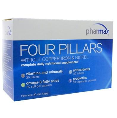Four Pillars Without Copper, Iron & Nickel - 30 Day Pack