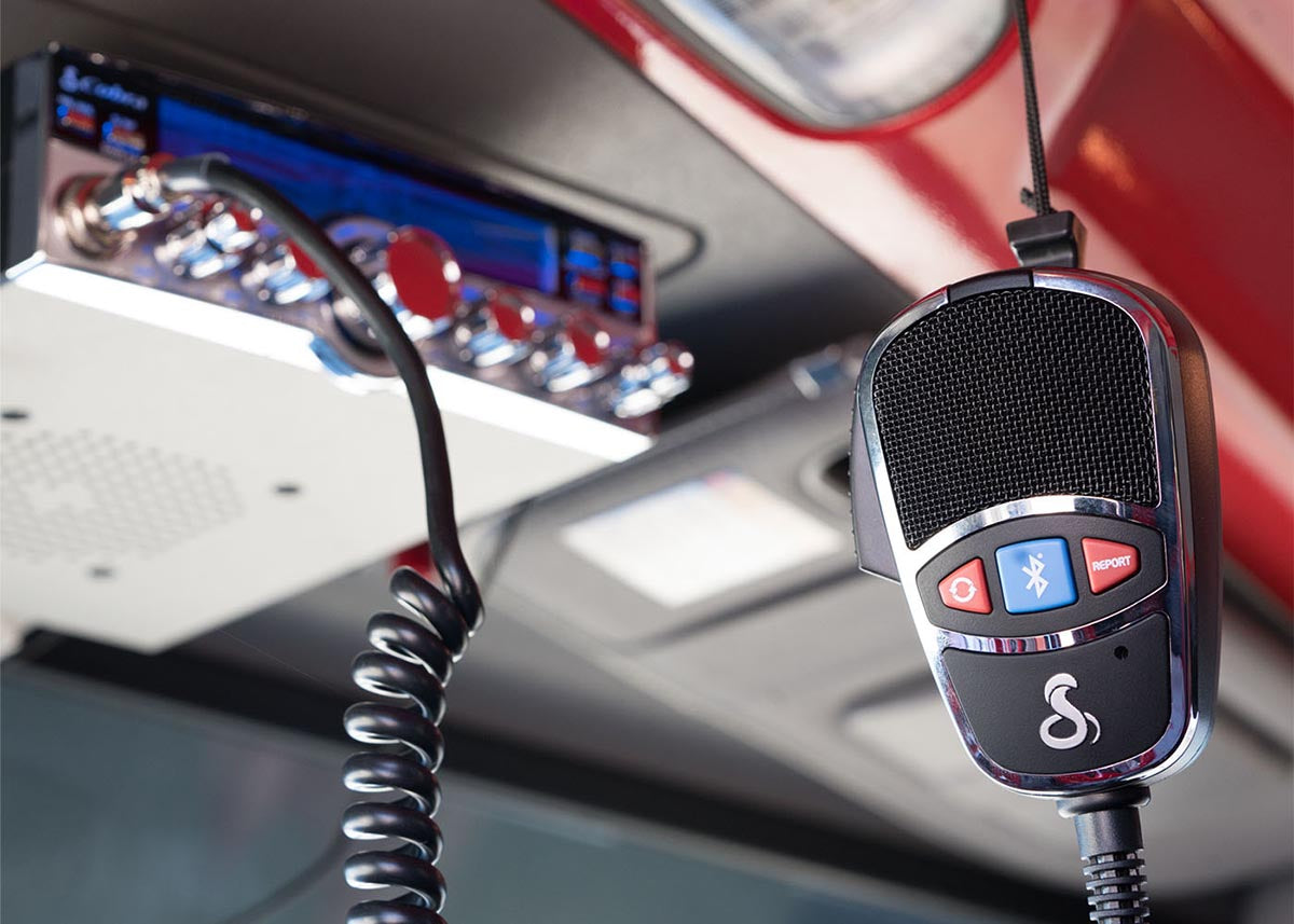 make and receive calls through the cb radio and most bluetooth� phones