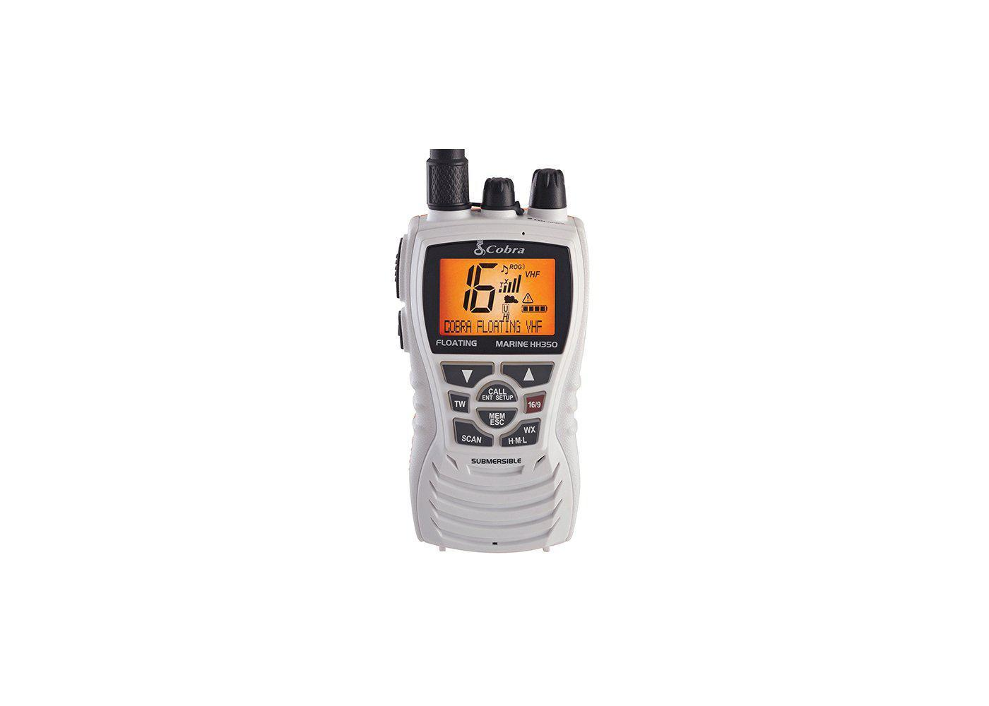 MR HH350W FLT - 6 Watt Floating VHF Radio, White - cobra.com