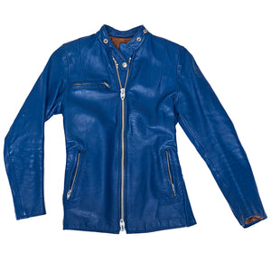 Electric Blue Cafe Racer Jacket
