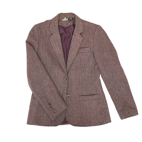 Mauvey-Brown tweed blazer