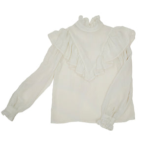 Victorian-by-way-of-'80s blouse