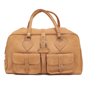 Natural Leather Two-Pocket Bag