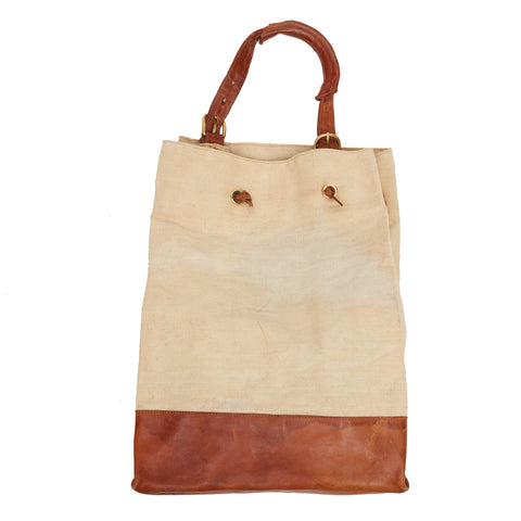 Large Canvas & Leather Bag