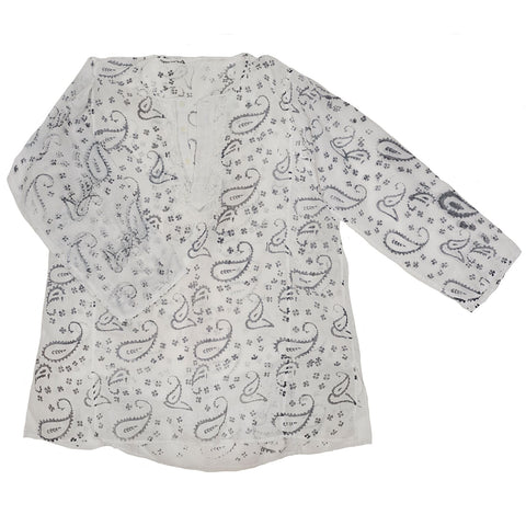 Paisley Cotton Indian Hippie Top