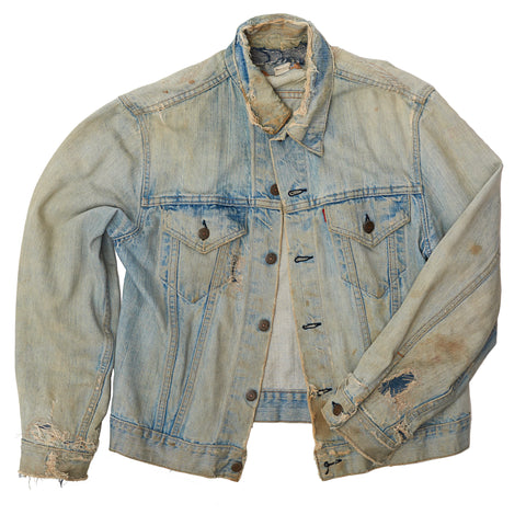 Distressed Levi's Denim Jacket