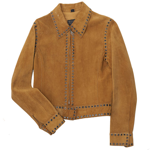 Suede Jacket with Grommets