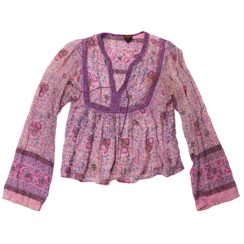 Purple/Lavender Indian Hippie Top