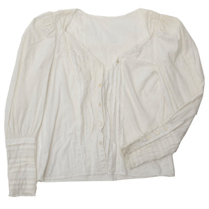 Deconstructed Gunne Sax Cotton Blouse