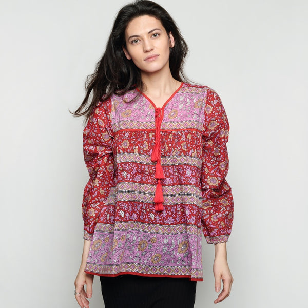 Cotton Indian Hippie Top