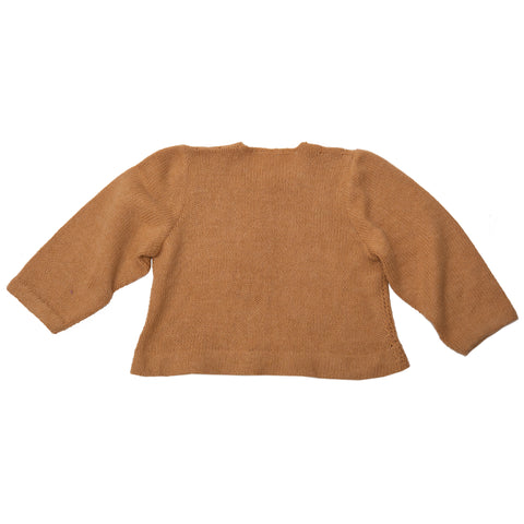 Cropped Camel Sweater